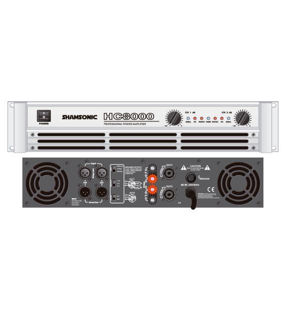 Potência HC8000 para médios ou graves